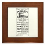 New York & Erie Railroad Framed Tile