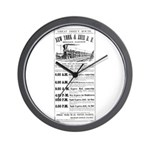 New York & Erie Railroad Wall Clock
