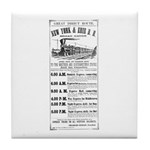 New York & Erie Railroad Tile Coaster