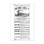 New York & Erie Railroad Mini Poster Print