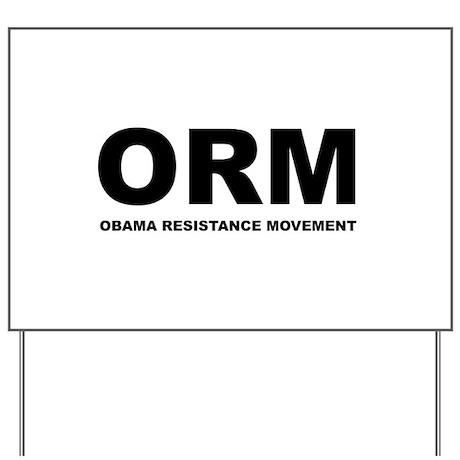 Obama Resistance Movement Yard Sign
