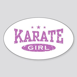 Karate Girl Oval Sticker