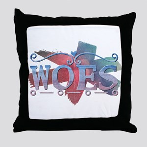 Woes Throw Pillow