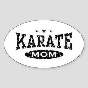 Karate Mom Oval Sticker