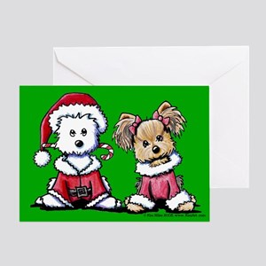 Mr. & Mrs. Santa Paws Greeting Card