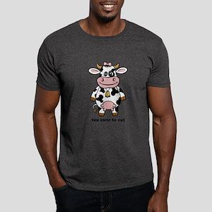 Too Cute Cow Dark T-Shirt