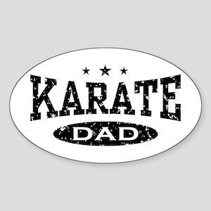 Karate Dad Oval Sticker