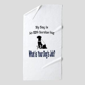 I'm an EDS service dog Beach Towel