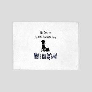 I'm an EDS service dog 5'x7'Area Rug