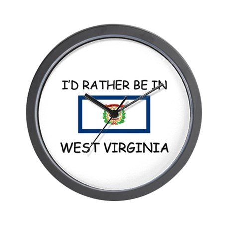 I'd rather be in West Virginia Wall Clock
