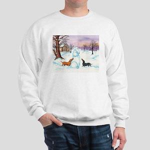 Snow Dachshunds Sweatshirt
