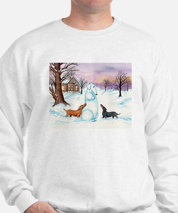 Snow Dachshunds Sweatshirt