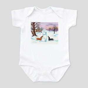 Snow Dachshunds Infant Bodysuit