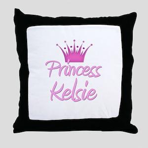 Princess Kelsie Throw Pillow