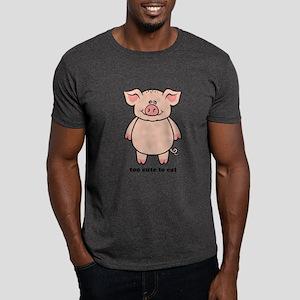 Too Cute To Eat Pig Dark T-Shirt