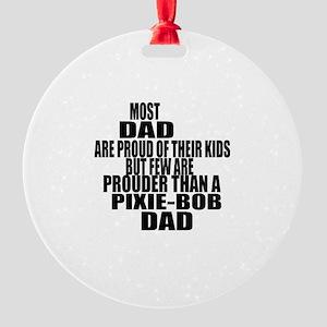 Pixie-Bob Cat Dad Round Ornament
