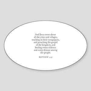 MATTHEW 9:35 Oval Sticker