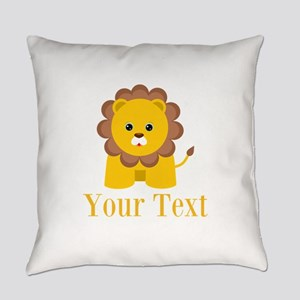 Personalizable Little Lion Everyday Pillow