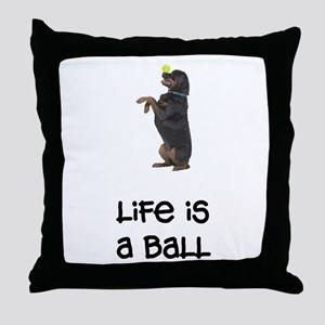 Rottweiler Life Throw Pillow