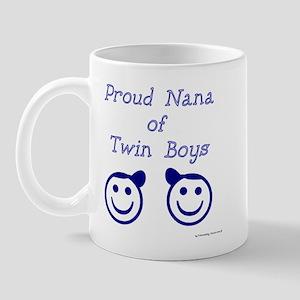 Proud Nana of Twin Boys - smiley Mug