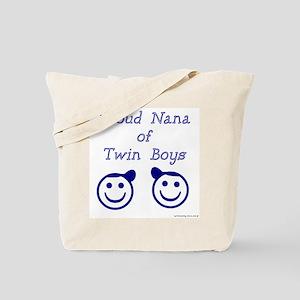 Proud Nana of Twin Boys - smiley Tote Bag