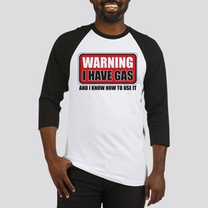 WARNING: I HAVE GAS Baseball Jersey