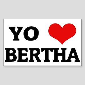 Amo (i love) Bertha Rectangle Sticker
