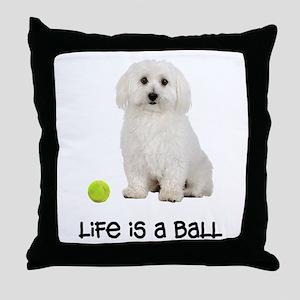 Bichon Frise Life Throw Pillow