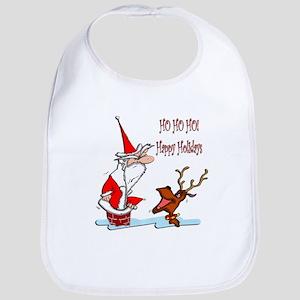 Santa in Chimney Bib