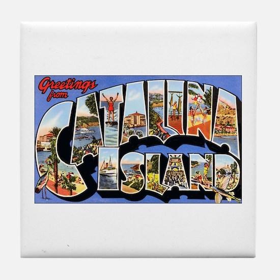 Catalina Island Tile Coaster