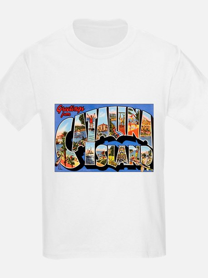 Catalina Island (Front) Kids T-Shirt