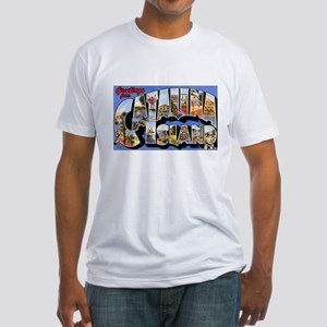 Catalina Island (Front) Fitted T-Shirt