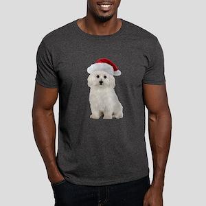 Bichon Frise Santa Dark T-Shirt