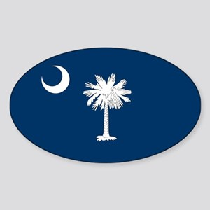 South Carolina State Flag Oval Sticker