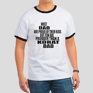 Korat Cat Dad Ringer T