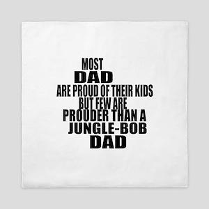 Jungle-bob Cat Dad Queen Duvet