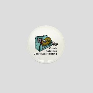 Couch Potato Fighting Mini Button