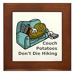 Couch Potato Hiking Framed Tile