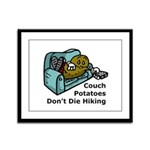Couch Potato Hiking Framed Panel Print
