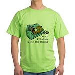 Couch Potato Hiking Green T-Shirt