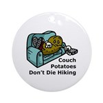 Couch Potato Hiking Ornament (Round)