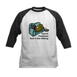 Couch Potato Hiking Kids Baseball Jersey