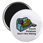 Couch Potato Hiking Magnet