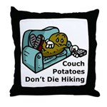 Couch Potato Hiking Throw Pillow