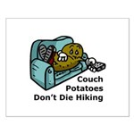 Couch Potato Hiking Small Poster