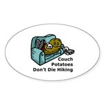Couch Potato Hiking Oval Sticker (10 pk)