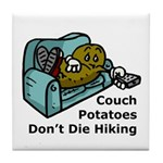 Couch Potato Hiking Tile Coaster
