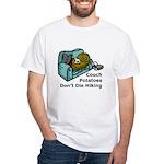 Couch Potato Hiking White T-Shirt