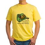 Couch Potato Hiking Yellow T-Shirt