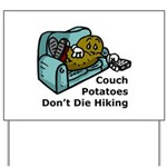 Couch Potato Hiking Yard Sign